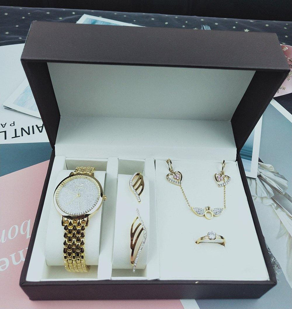 Watch Gift Box Set-5 piece -  Dazzling Waves