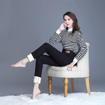 Fashionable Warm Fur Leggings