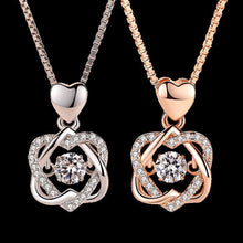 Heart Shaped Rose Necklace Box -  Dazzling Waves