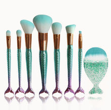 Mermaid Shaped Makeup Brushes -  Dazzling Waves