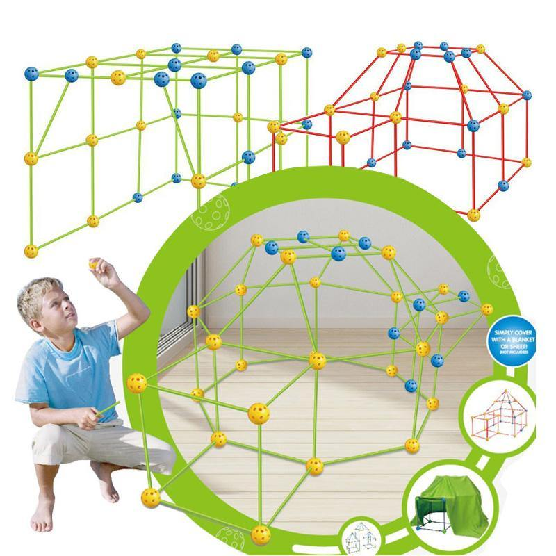 Kids Assembled Blocks 3D Play House Tunnels Educational Toy -  Dazzling Waves