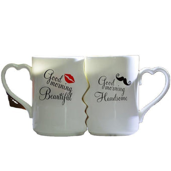 Ceramic Couple Kiss Mugs-VLT09