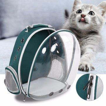 Transparent & Breathable Dog Cat Carrier Shoulder Bag -  Dazzling Waves