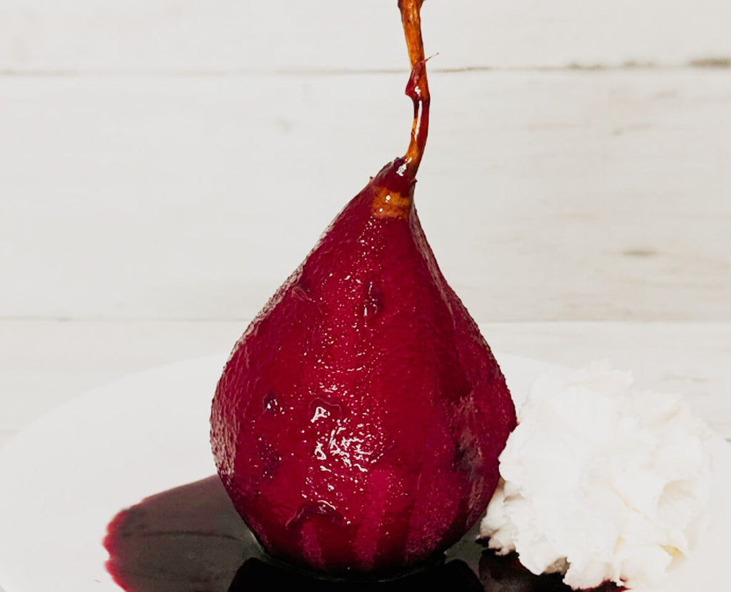Sweet Cheat Poached Pears