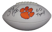 "Load image into Gallery viewer, Brian Dawkins Autographed Clemson Tigers Logo Football inscribed ""Go Tigers"""