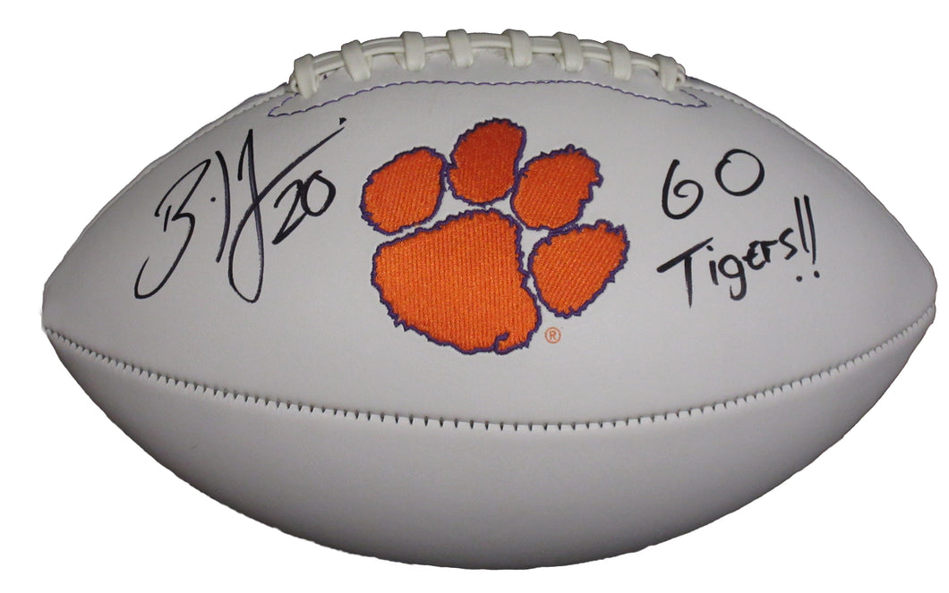 Brian Dawkins Autographed Clemson Tigers Logo Football inscribed
