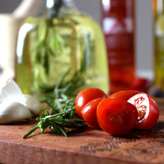 Italian olive oil and tomatoes