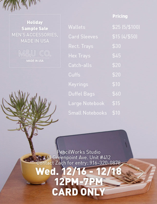 Sample Sale prices
