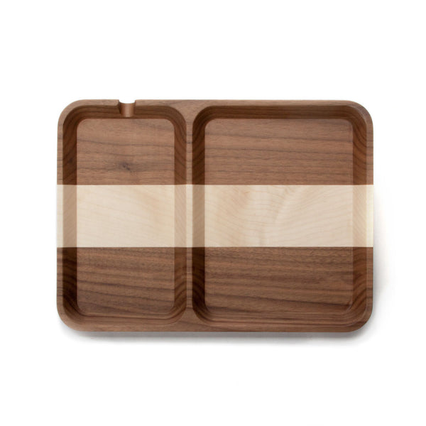 Rectangle Valet - Walnut Stripe
