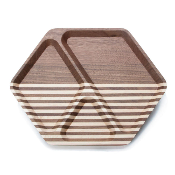 Hex Tray — Walnut