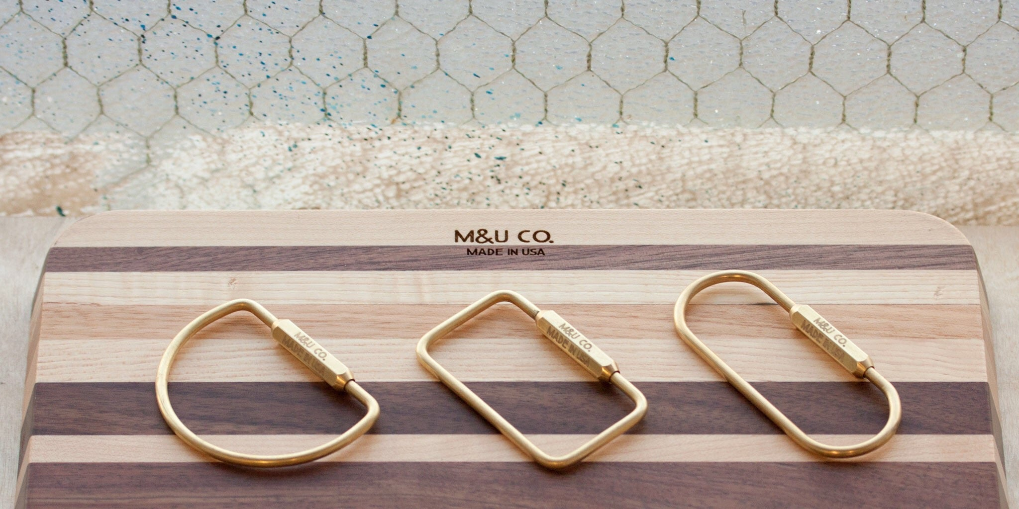 Solid Brass Key Rings