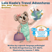 Load image into Gallery viewer, Lola Koala's Travel Adventures: Who, What, Where & Yes/No Questions