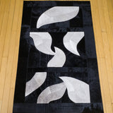 Autumn Leaves Gray - Handmade Animal Hide Area Rug - 3' x 4' - The Loom