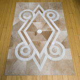 Native Light - Handmade Animal Hide Area Rug - 3' x 4' - The Loom