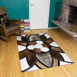 King - Handmade Animal Hide Area Rug - 4' x 6' - The Loom