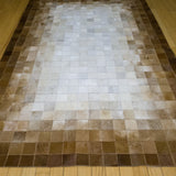 Patchwork Faded - Handmade Animal Hide Area Rug - 4' x 6' - The Loom