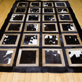 Portrait Black - Handmade Animal Hide Area Rug - 4' x 6' - The Loom