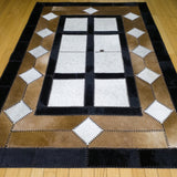 Window - Handmade Animal Hide Area Rug - 4' x 6' - The Loom