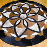 Eden - Handmade Animal Hide Area Rug - 5' Round