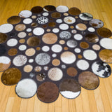 Moon - Handmade Animal Hide Area Rug - 5' Round - The Loom