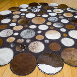 Moon - Handmade Animal Hide Area Rug - 5' Round