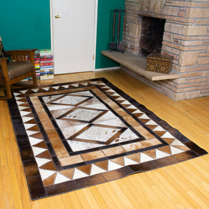 Diamond - Handmade Animal Hide Area Rug - 5' x 8'