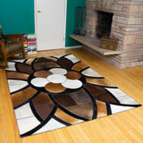 King - Handmade Animal Hide Area Rug - 5' x 8'