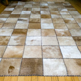Patchwork Brown - Handmade Animal Hide Area Rug - 5' x 8' - The Loom