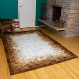 Patchwork Faded - Handmade Animal Hide Area Rug - 5' x 8'