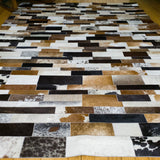 Patchwork Striped - Handmade Animal Hide Area Rug - 5' x 8' - The Loom