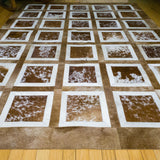 Portrait Brwon - Handmade Animal Hide Area Rug - 5' x 8'