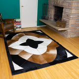 Star - Handmade Animal Hide Area Rug - 5' x 8'