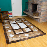 Window - Handmade Animal Hide Area Rug - 5' x 8'