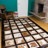Portrait Brown - Handmade Animal Hide Area Rug - 6' x 9'