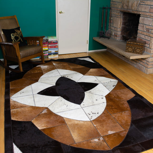 Star - Handmade Animal Hide Area Rug - 6' x 9'