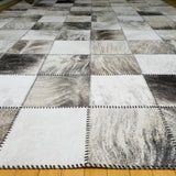 Patchwork Gray - Handmade Animal Hide Area Rug - 6' x 9' - The Loom