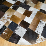 Patchwork - Handmade Animal Hide Area Rug - 8' Round - The Loom