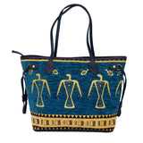 Cotton Carry All Bag Blue 1