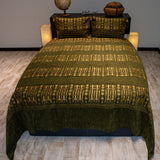 green color wheat harvest design decorative bedspread set