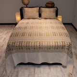 white color wheat harvest design decorative bedspread set