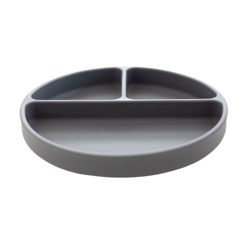 Silicone Suction Plate | Charcoal