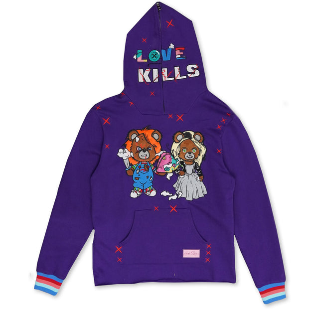 F5738 Love Kills Hoodie - Purple