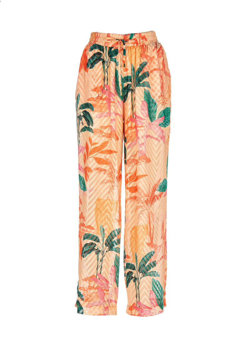PRINTED LONG PANTS