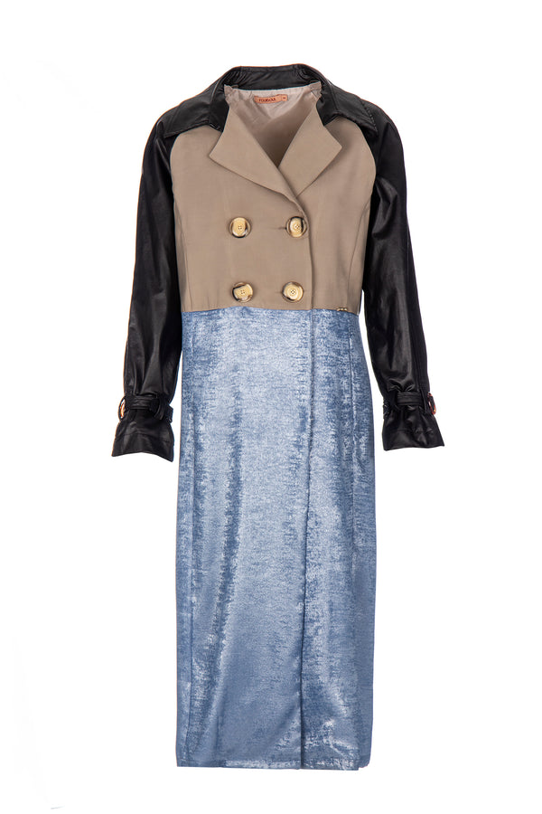 MIXED TRENCH COAT