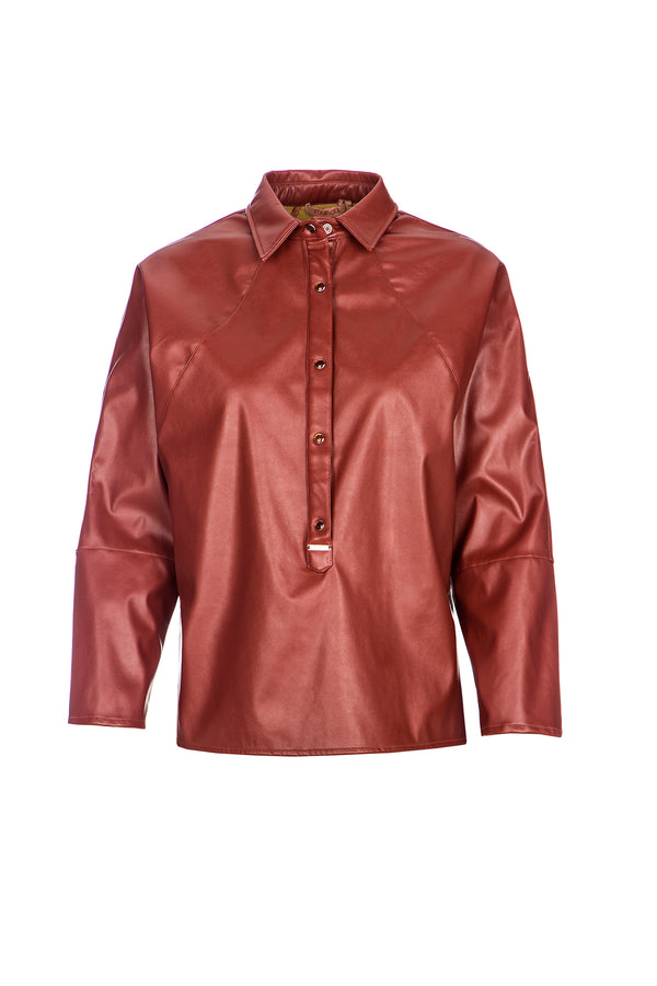 FAKE LEATHER SHIRT