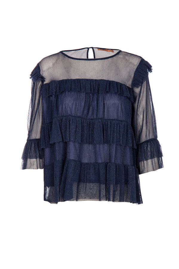 LUREX TULLE BLOUSE