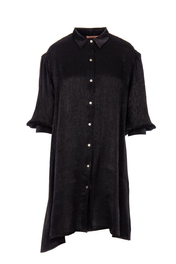 BALOON SLEEVES SHIRT DRESS