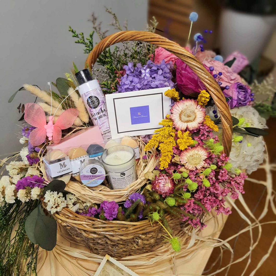 Mom's day off (Floral Care Basket)
