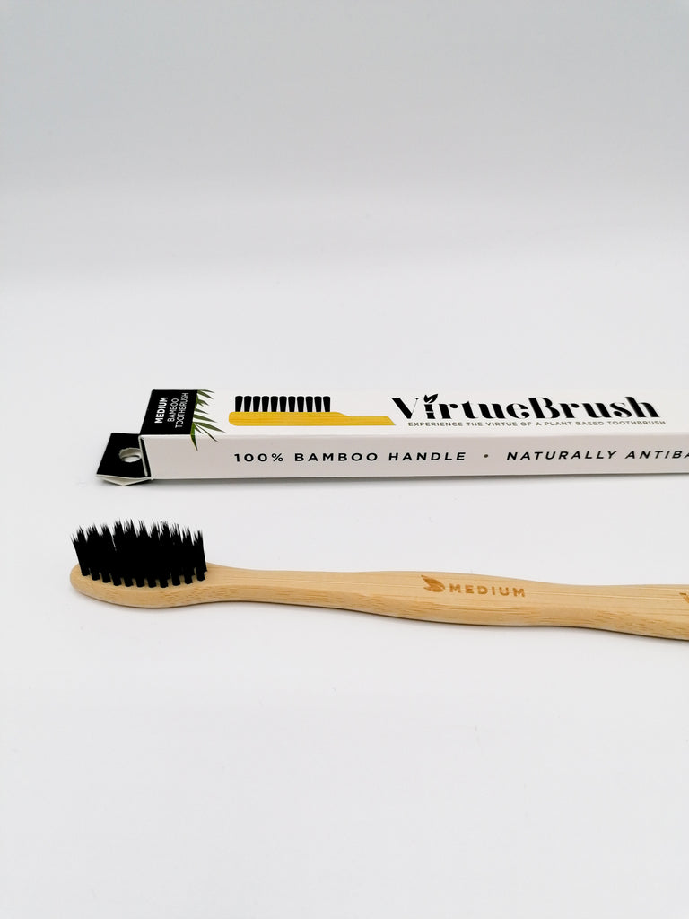 Bamboo Toothbrush (Medium) - Virtue Brush