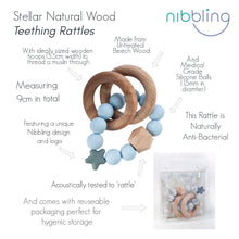 Load image into Gallery viewer, Nibbling Stellar Natural Wood Teething Toy – Oat